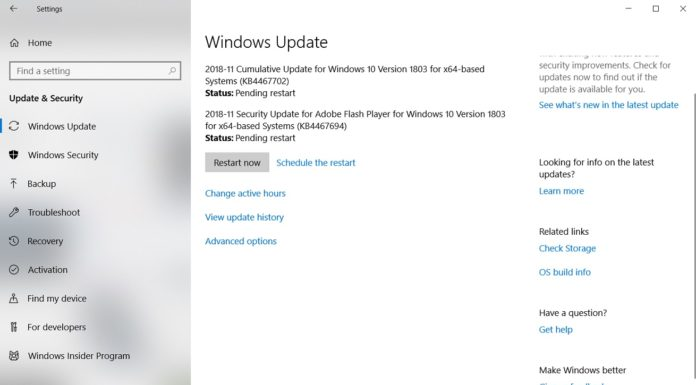 KB4467702 for Windows 10