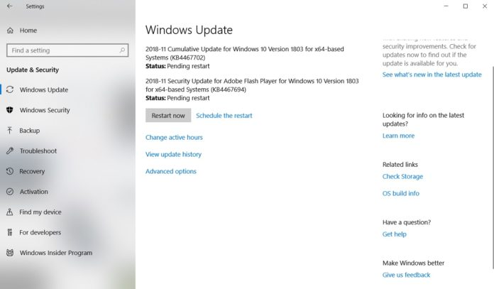 KB4467702for Windows 10