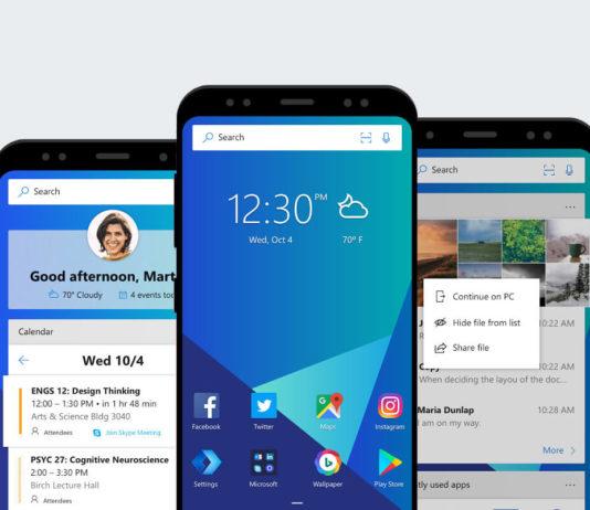 Microsoft Launcher app