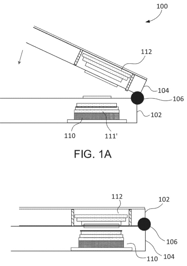 Microsoft patent for dual camera device