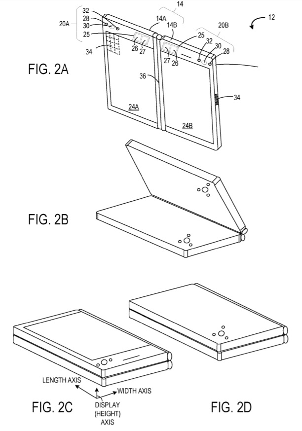 Microsoft patent for folable phone