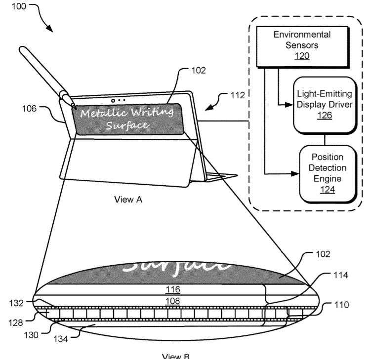 Reflective display patent