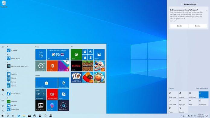 Windows 10 desktop in light