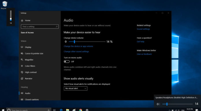 Windows 10 volume system