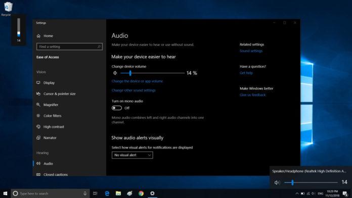 Windows 10 volume system