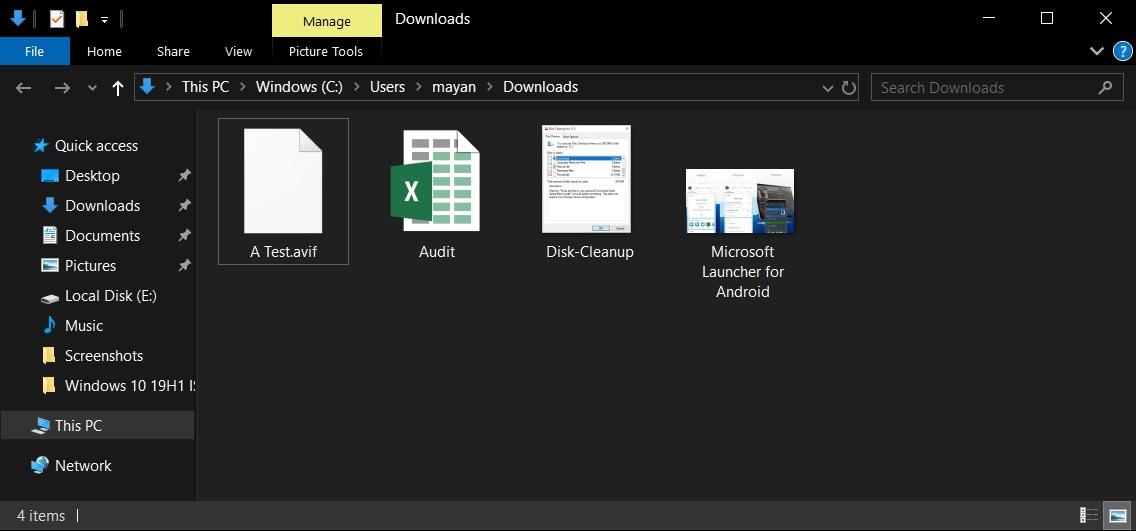 File Explorer in 19H1