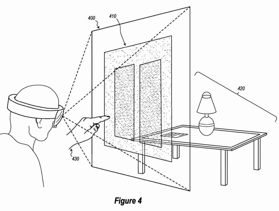 Microsoft patent for mixed reality