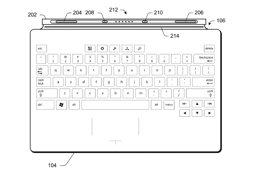 Surface keyboard patent