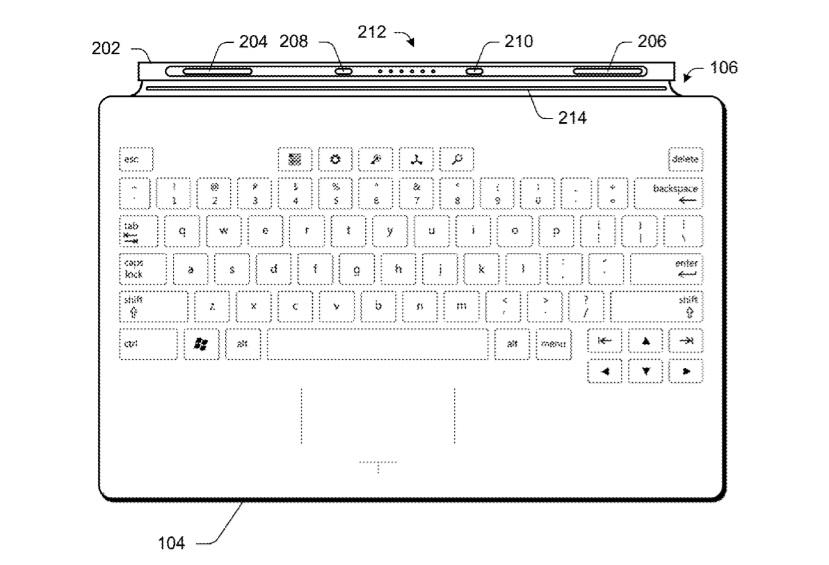 Surface keyboard patent