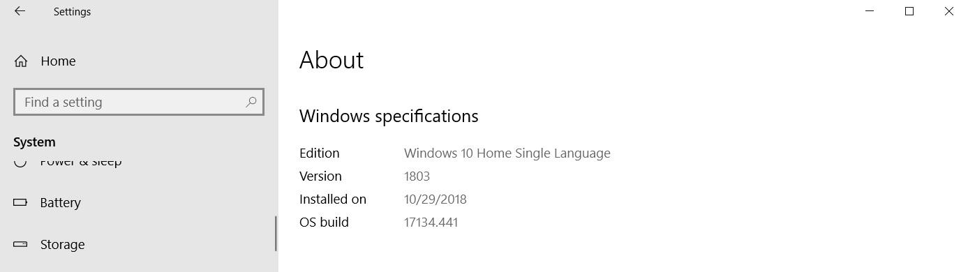 Windows 10 optional November update