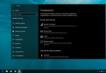 Windows Troubleshoot settings
