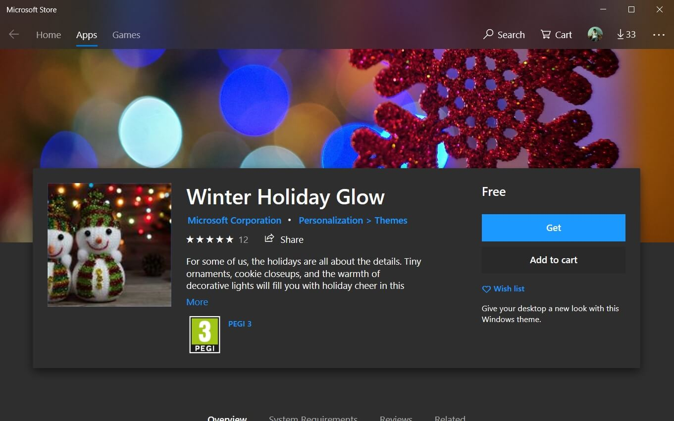 microsoft releases new winter holiday glow wallpapers for windows 10