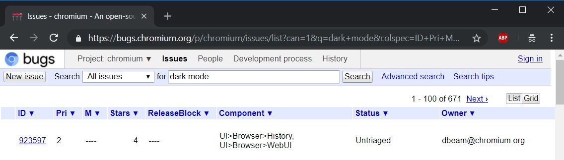 Chrome Dark Mode Chromium