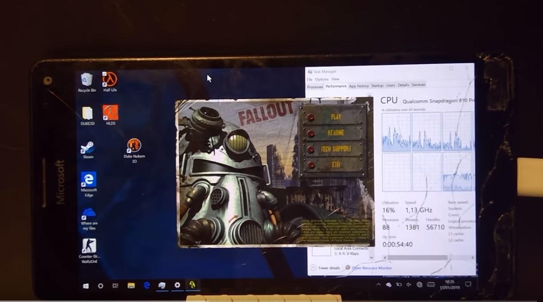 Fallout on Lumia 950 XL