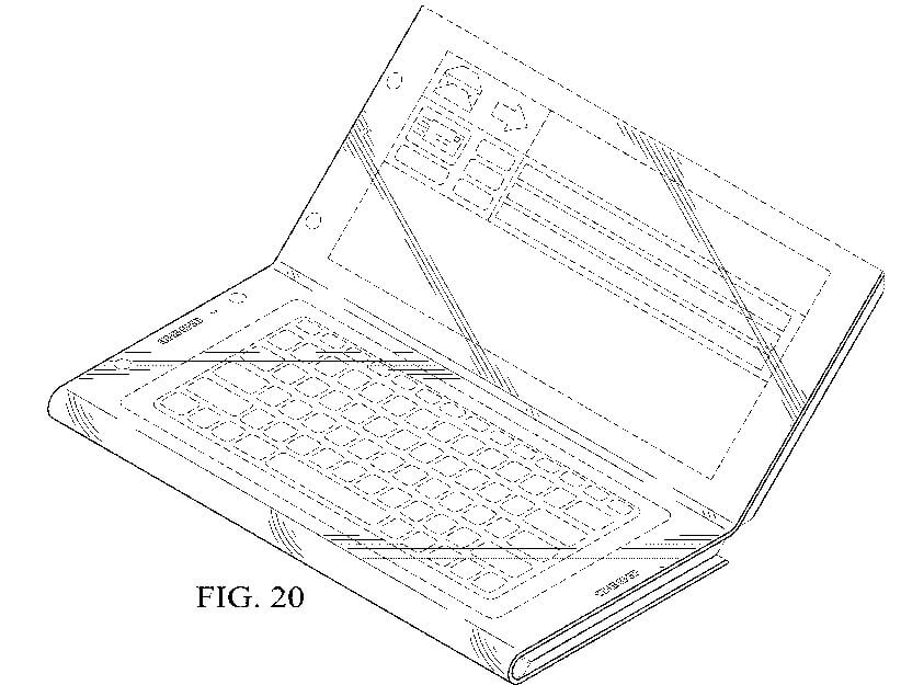 Intel patent for foldable device