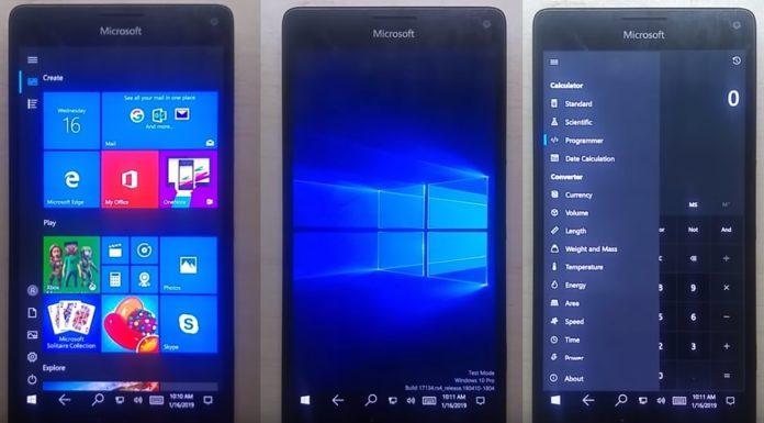 Lumia 950 XL and W10ARM