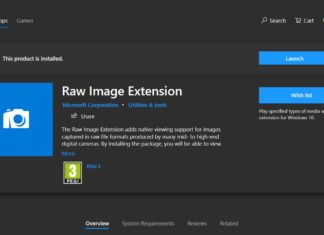 Raw Image Extension for Windows 10
