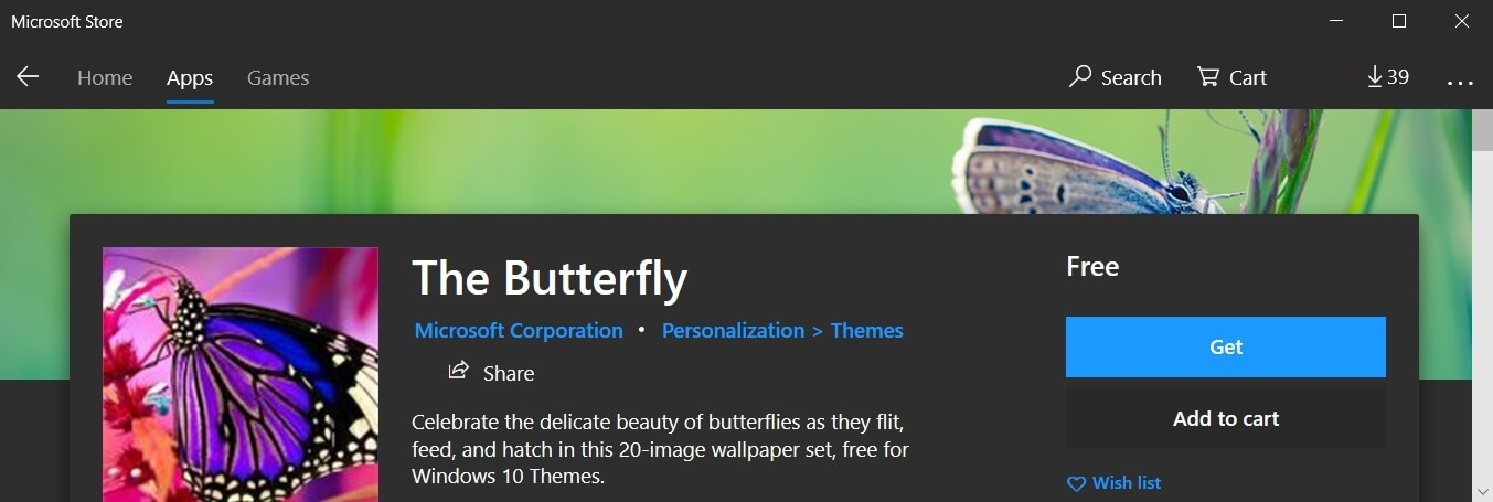 The Butterfly wallpaper