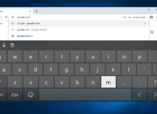 Chrome touch keyboard