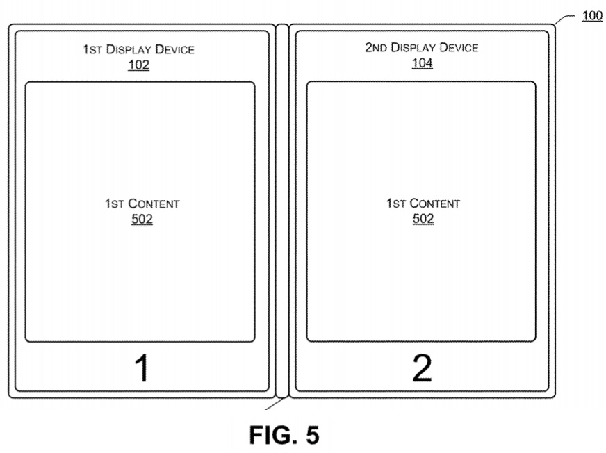 Dell dual screen patent