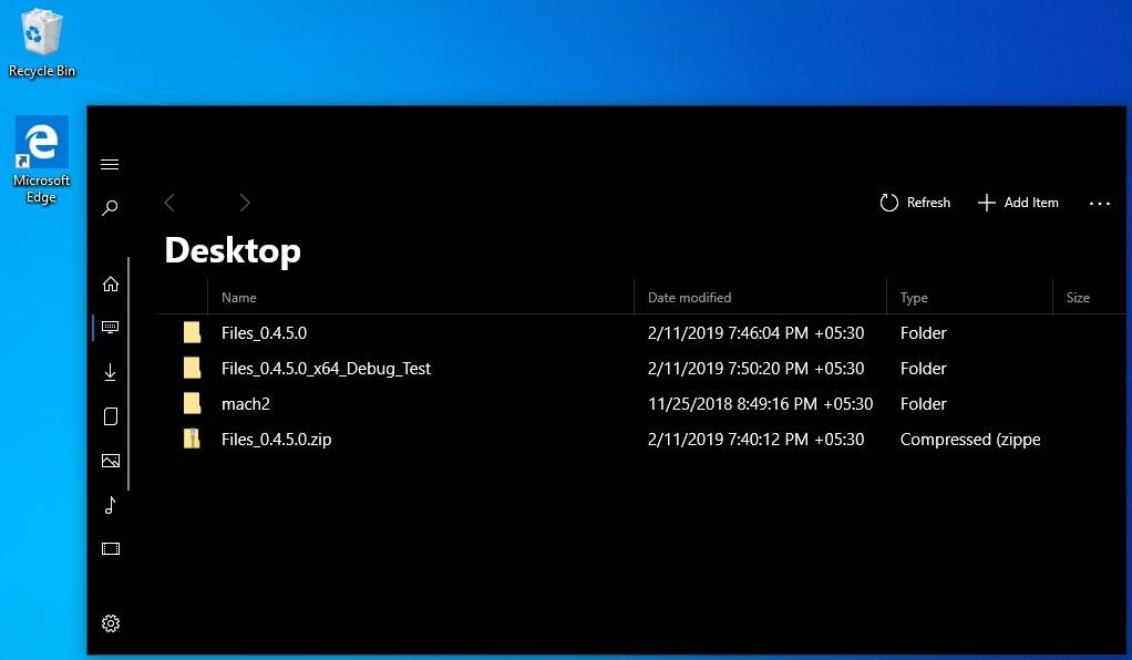 Files UWP dark mode