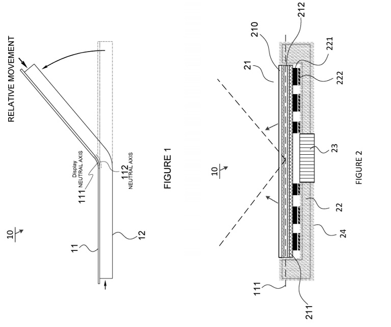 Microsoft patent for bendable