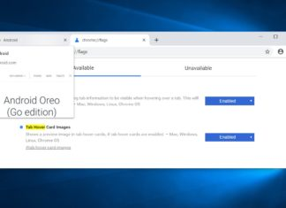 Chrome Canary tab preview