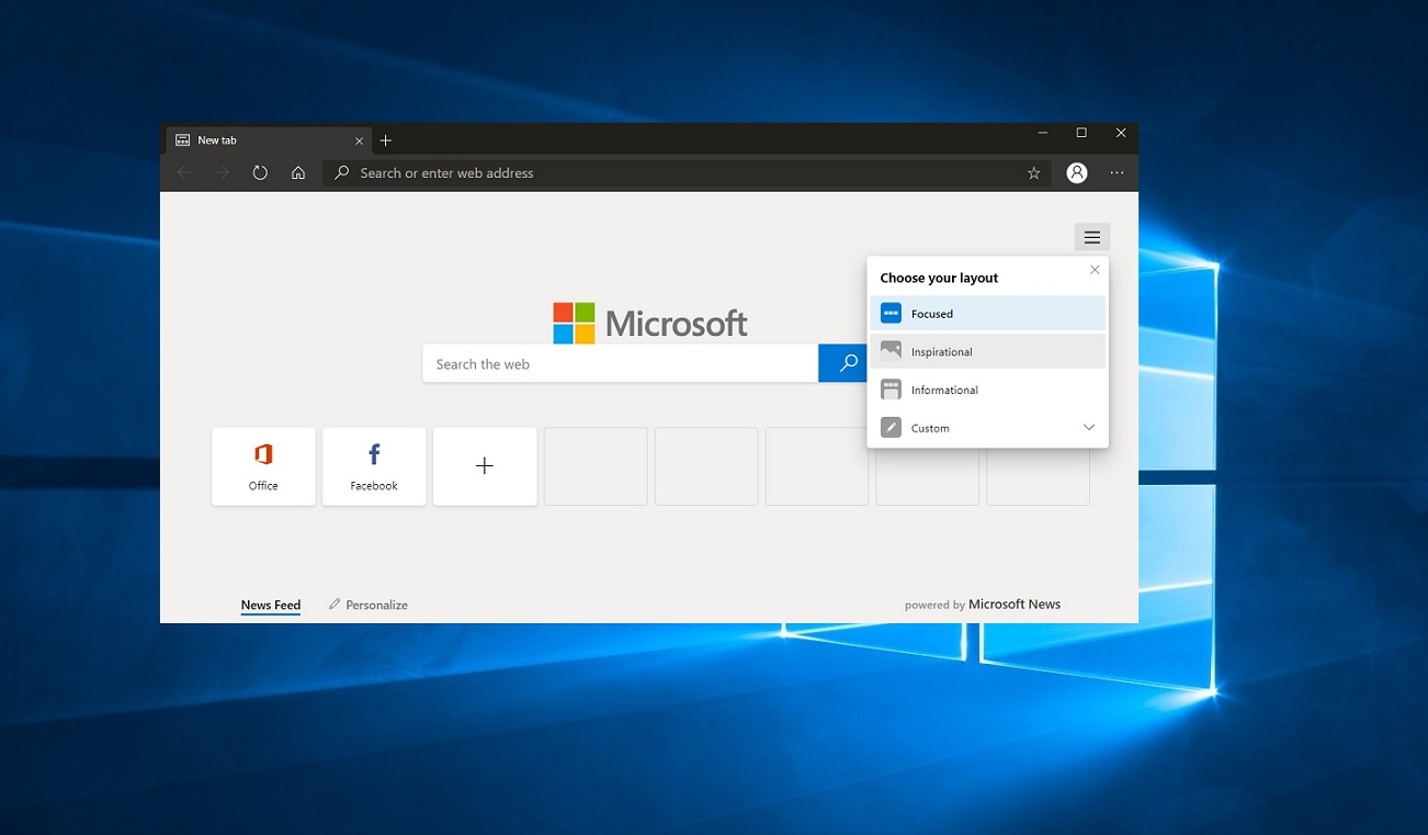 Chromium Edge interface
