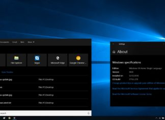 Cortana in Windows 10 v1809