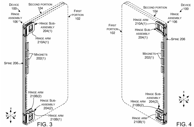 Dual screen tablet patent