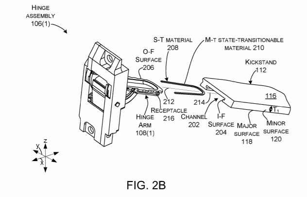 Surface patent for hinge