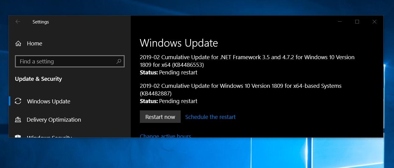 Windows 10 KB4482887