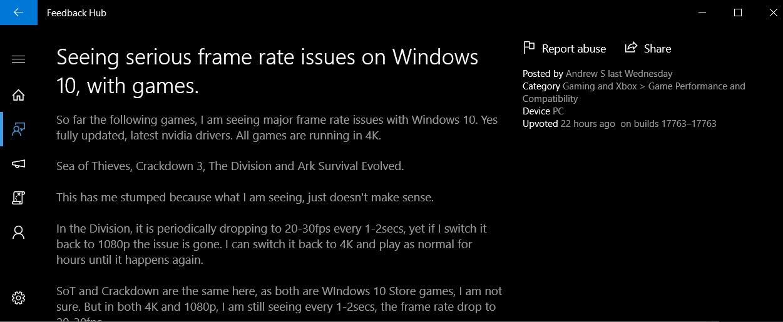 Windows 10 game bug