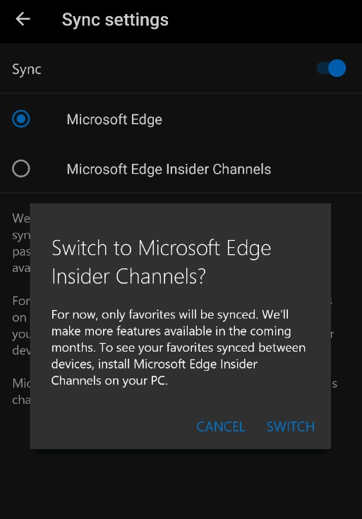 Edge for Android Beta