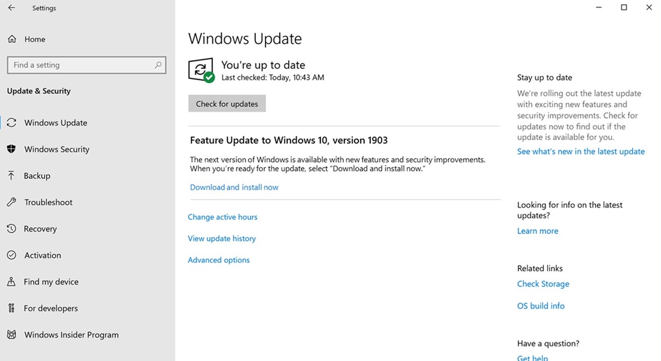 Windows Update improvements