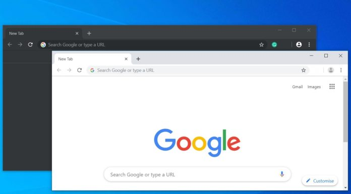 Chrome dark and light look