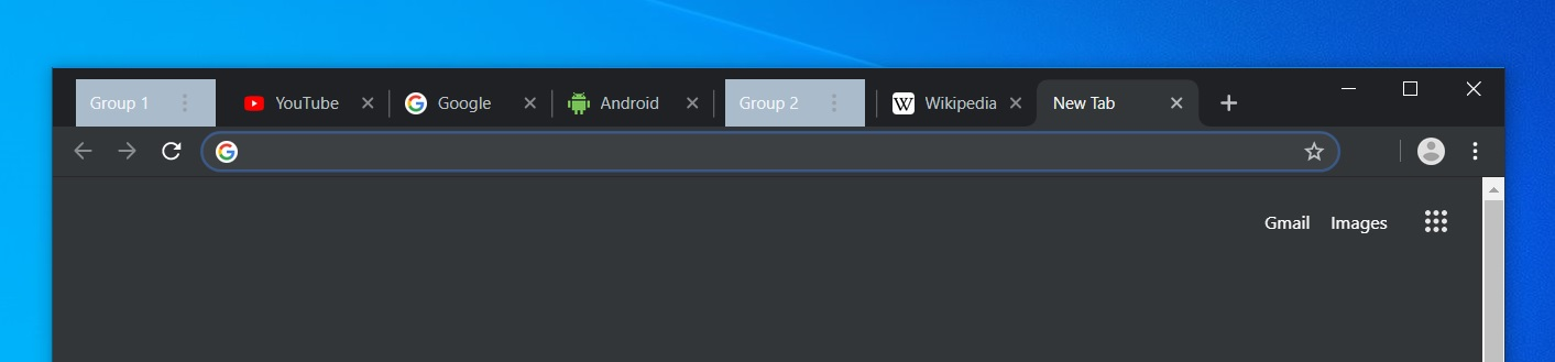 Chrome tab groups