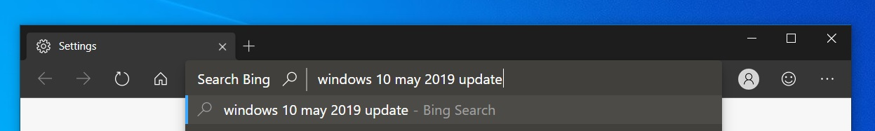 Edge address bar update