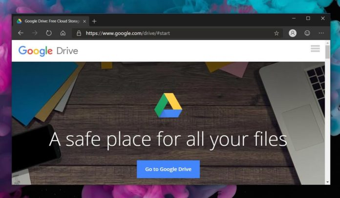 Google Drive in Edge