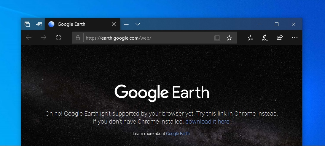 Google Earth on Edge