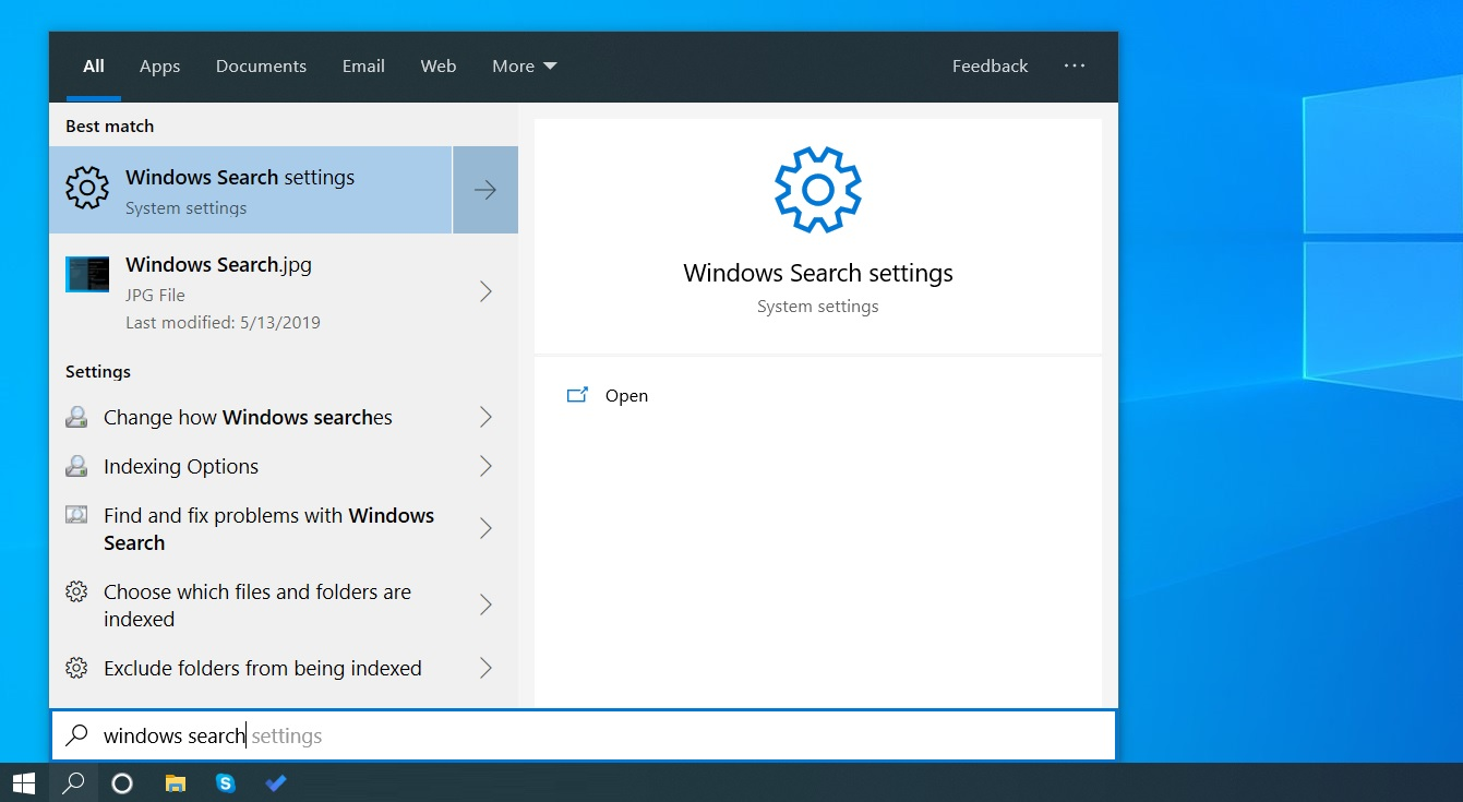Search on Windows