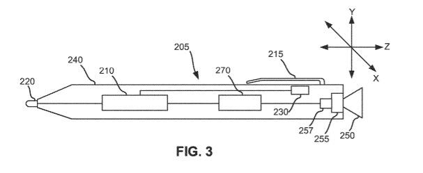 Surface Pen tip patent