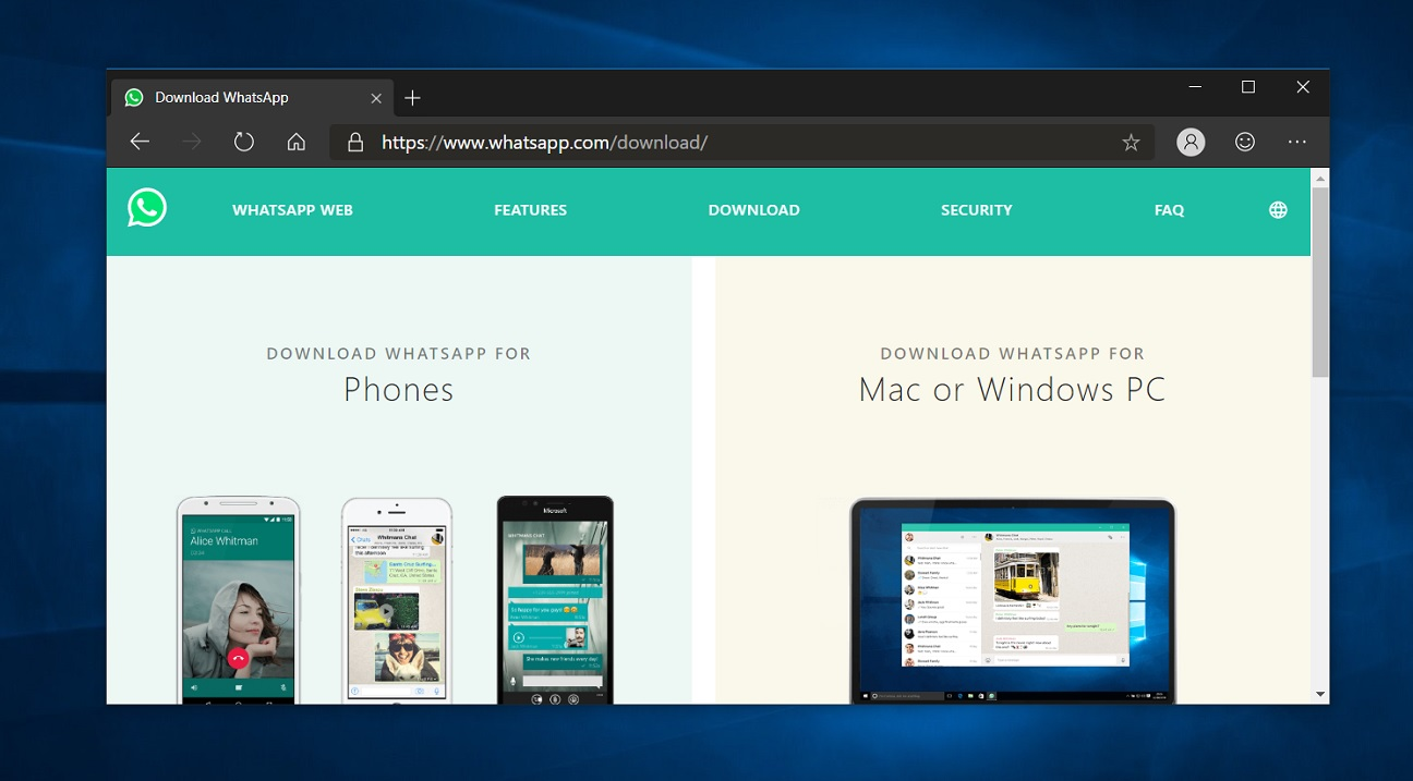 Another rumour claims WhatsApp's new Windows 10 app is on