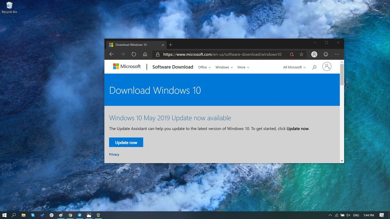 Download Windows 10 May 2019 Update ISO images