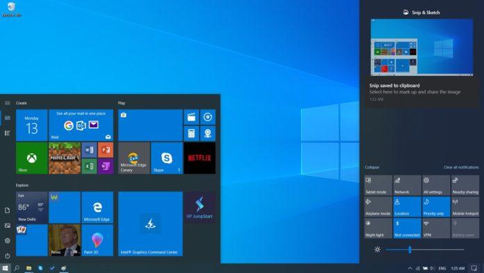 Windows 10 May 2019デスクトップの更新