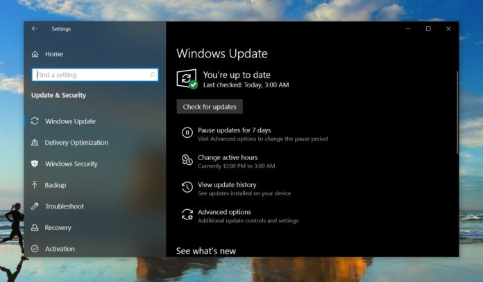 Windows 10 version 1903 patch