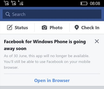Facebook apps for Windows Phone pulled from Microsoft Store