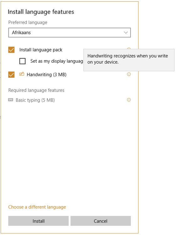 Language feature