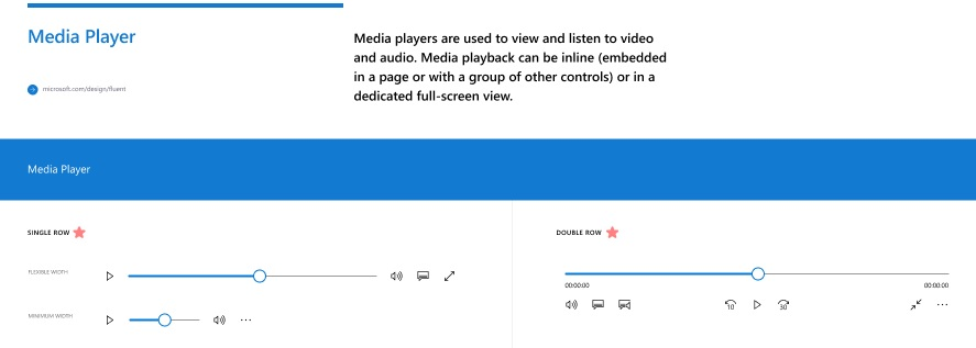 Media player rounded