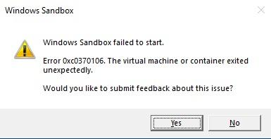 Sandbox error